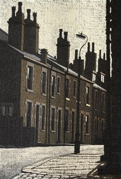 Find artworks by Stuart Walton (British, on MutualArt and find more works from galleries, museums and auction houses worldwide. Decay Art, Building Art, Urban Decay, Graphic Illustration, Bookshelf Ideas, Terraced House, Lino Cuts, Artists, Landscape