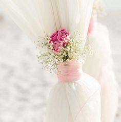 Roses, baby's breath and blush accents