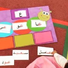 Arabic Alphabet Letters, Learn Arabic Alphabet, Alphabet For Kids, Teaching Aids, Teaching Activities, Toddler Activities, School Book Covers, Learn Arabic Online, School Cartoon