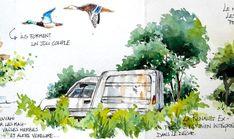 BB-Aquarelle Watercolor Sketchbook, Artist Journal, Tree Leaves, Urban Sketching, Decoration, Sketches, Painting, Inspiration, Sketchbooks