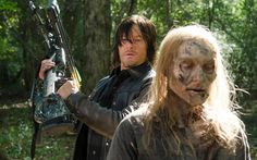 Norman Reedus tells Yahoo TV he not only doesn't want to see Daryl die, ever, but he's already got an alternative idea, should Daryl ever need to splinter off from Rick's group. The actor also talks about how he thinks we're making too much fuss about Daryl's new friendship with Aaron, how we should be afraid (very afraid) of the Wolves, the status of Andy Lincoln's beard (which would be a great band name), and what's on his Daryl wish list for Season 6 (hint: anger).