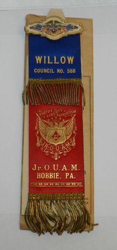 Jr. Order United American Mechanics - JOUAM Medal Council No. 588 Hobbie,Pa. $60.00 obo + $5.50 SHIPPING