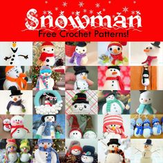 Free amigurumi snowman crochet patterns, the best available on the web! Make them for yourself or as a handmade Christmas present or stocking stuffer!