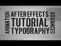 Typography Text Animation - After Effects - YouTube