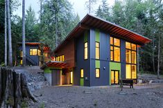 contemporary exterior by Johnston Architects Interesting siding choices also window placement.