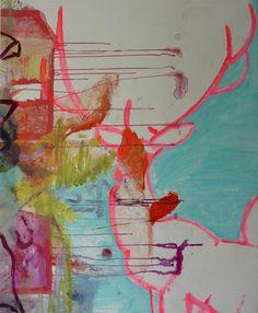 Dyr Udsigt by Lene Berg #kunst #kunstner #maleri #tegning - Beauton Art Gallery - http://beautonart.com | http://beautonart.dk
