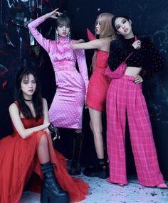 Black Pink Yes Please – BlackPink, the greatest Kpop girl group ever! Blackpink Jisoo, Kpop Girl Groups, Korean Girl Groups, Kpop Girls, Blackpink Jennie, Blackpink Outfits, Magazine Vogue, Blackpink Members, Black Pink Kpop