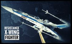 Resistance X-Wing Fighter artwork