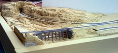 "The first stages of a ""Once Upon a Time in the West"" themed model railway"