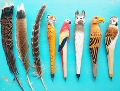 What's your #AnimalSpirit ?!? Funky #woodcraft pencils