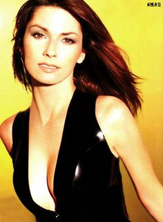 Shania Twain 36D-24-35 in FHM september 1999 at 34 yrs.