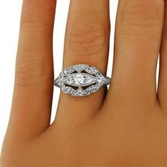 14K White Gold The Audrey Ring $2990