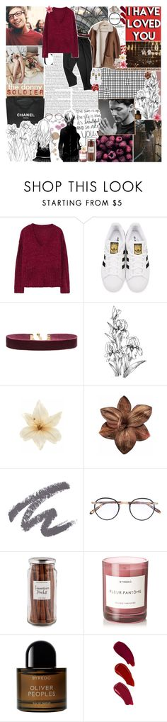 """""""botc r2 // and it couldn't get better, they say; ♥️"""" by sadtrashqueen ❤ liked on Polyvore featuring KEEP ME, Chanel, MANGO, adidas Originals, Vanessa Mooney, Avery, Clips, Revlon, Garrett Leight and Williams-Sonoma"""