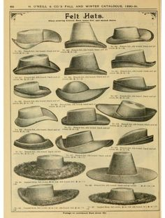 Hats of H. O'Neill and Company - 1890