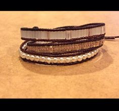 Artisan Leather Wrap Bracelet available at lenettscollections.etsy.com