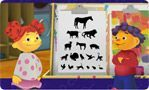 Juego de Sid: Así se dice.  A kid's game in Spanish to match animal sounds with a silhouette of that animal.  It is easy for an adult or older child to play the game even if they don't know Spanish, and it's repetitive, which makes it nice incidental language exposure for someone learning Spanish.  From Discovery Kids.