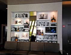 DIY idea: bookshelf wall at The Wit | How About Orange