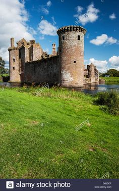 Caerlaverock Castle, Scotland. - D0J3CF from Alamy;s library of millions of high resolution stock photos,