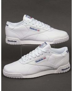 57ec2df9bed9 Reebok Ex-O-Fit Lo Clean Logo Trainers in White - exofit gym classic (UK  Sizes)