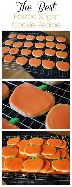 The Best Frosted Sugar Cookies {A Kid Favorite} - Amee's Savory Dish Halloween Desserts, Halloween Sugar Cookies, Halloween Goodies, Halloween Cookie Recipes, Halloween Treats, Happy Halloween, Sugar Cookie Frosting, Sugar Cookies Recipe, Frosted Sugar Cookies