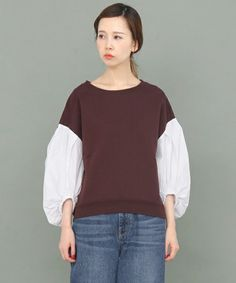 KBF(ケイビーエフ)の「ペザントスリーブスウェット(Tシャツ/カットソー)」|詳細画像