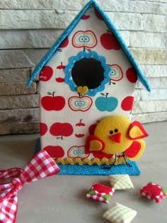 Ana Tuyama crafts: artesanato, vida, familia e outras manias...: Casinha de Passarinho - Reciclagem com Passo-a-Passo