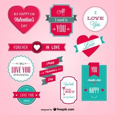 Valentine's label design vector Saint Valentine, Valentines Day, Valentine Craft, San Valentin Ideas, Love Days, Key To My Heart, Happy Love, Love You Forever, Planner