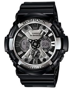 G-Shock Watch, Men's Analog-Digital Black Resin Strap 53mm GA200BW-1A   [gifts]- Option 2