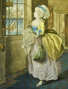 March (Lady Holding Sewing). R. Dighton. Carrington Bowles. London. 1784.