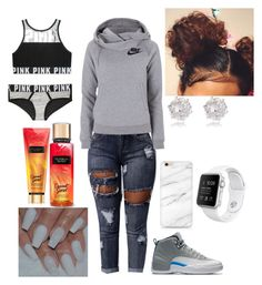 """Vape"" by curlss-wavyy-sexy ❤ liked on Polyvore featuring NIKE, River Island and Victoria's Secret"