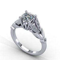 Hand made Diamond engagement ring  moissanite by fabiandiamonds visit us at fabiandiamonds.com for more great ideas