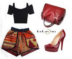 What type of gal r u? The sexy hot mama type? @kokusimahausofbags got ur back on all things bag (coordinated with an African print short, black top, loubotin heels) #keepitgroovy #gemachtfuerdieewigkeit 👌👍💖