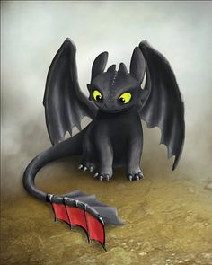 Toothless Inspired Dragon, How To Train Your Dragon, Printable Poster, Instant Download, 8x10 and 11x14 prints.