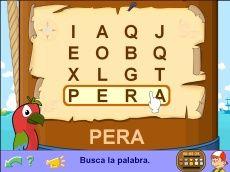 El mapa del tesoro (crucigramas)   The treasure map (word search puzzles)