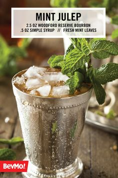 Plenty of bourbon and mint seems to sum up everything one should be sipping on under their big hat during the Kentucky Derby. But wait, there's more! Here are favorite takes on the Mint Julep that are must-tries to switch up your cocktail game. Mint Julep Cups, Derby Day, Derby Time, Classic Cocktails, Simple Syrup, Kraut, Kentucky Derby, Yummy Drinks, Cocktail Recipes