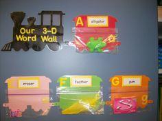 3-d word wall w/ environmental print