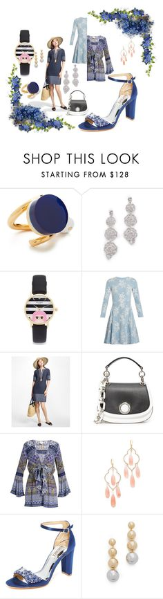 """fashion ride"" by racheal-taylor ❤ liked on Polyvore featuring Marni, Kate Spade, HUISHAN ZHANG, Brooks Brothers, Michael Kors, Camilla, Badgley Mischka and Elizabeth and James"
