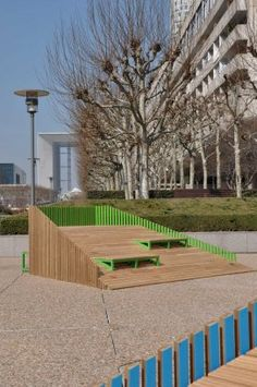 "DUNE is a street furniture system designed by the FERPECT collective for ""Forme Publique"", the Biennale of Street Furniture's Design organized by DEFACTO in La Defense near Paris."