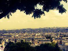 view from Sacre Ceuor, Paris, France