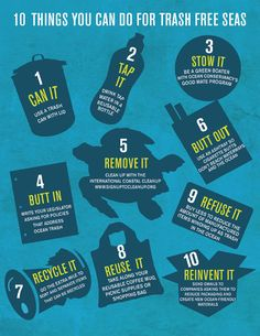 Here's 10 ways you can help keep garbage out of the ocean