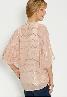 kimono with metallic stripes - maurices.com On my wish list #wishpinwinsweepstakes #discovermaurices