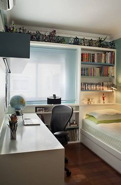 Small bedroom with smart storage