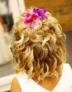 Ringlet curls for flower girl hair