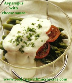 asparagus with cheese sauce (microwave)