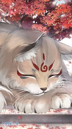 Cumulative recharge set on September with Yokai event~ Pet Anime, Anime Wolf, Anime Animals, Anime Art, Arte Furry, Furry Art, Cute Fantasy Creatures, Mythical Creatures Art, Cute Animal Drawings Kawaii