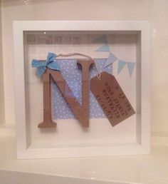Personalised Frame Girl/boy Christening, Birthday, New Baby Any Name!!!