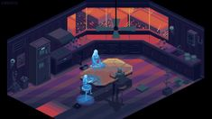 Kirokaze pixel on Behance Vaporwave, Cyberpunk, Pixel Art Background, Space Opera, Pixel Animation, 8bit Art, 8 Bits, Pixel Art Games, Retro Waves