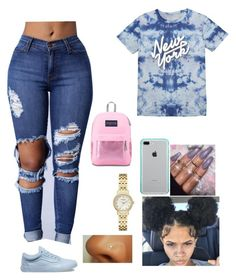 """""""Untitled #89"""" by ashanticollins3 on Polyvore featuring Vans, Belkin, Kate Spade and JanSport"""