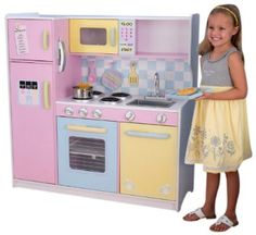 Kidkraft Large Pastel Kitchen by Kidkraft Ireland is now available from JellyBeanGroup now! Kidkraft Large Pastel Kitchen has fantastic features for your play kitchen. Wooden Play Kitchen, Kids Play Kitchen, Play Kitchen Sets, Wooden Kitchens, Kitchen Ideas, Play Kitchens, Kidkraft Kitchen, Kitchen Playsets, Games