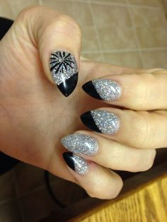 My amazing New Years nails!! https://m.facebook.com/NailsByJessM  Nails by Jess M